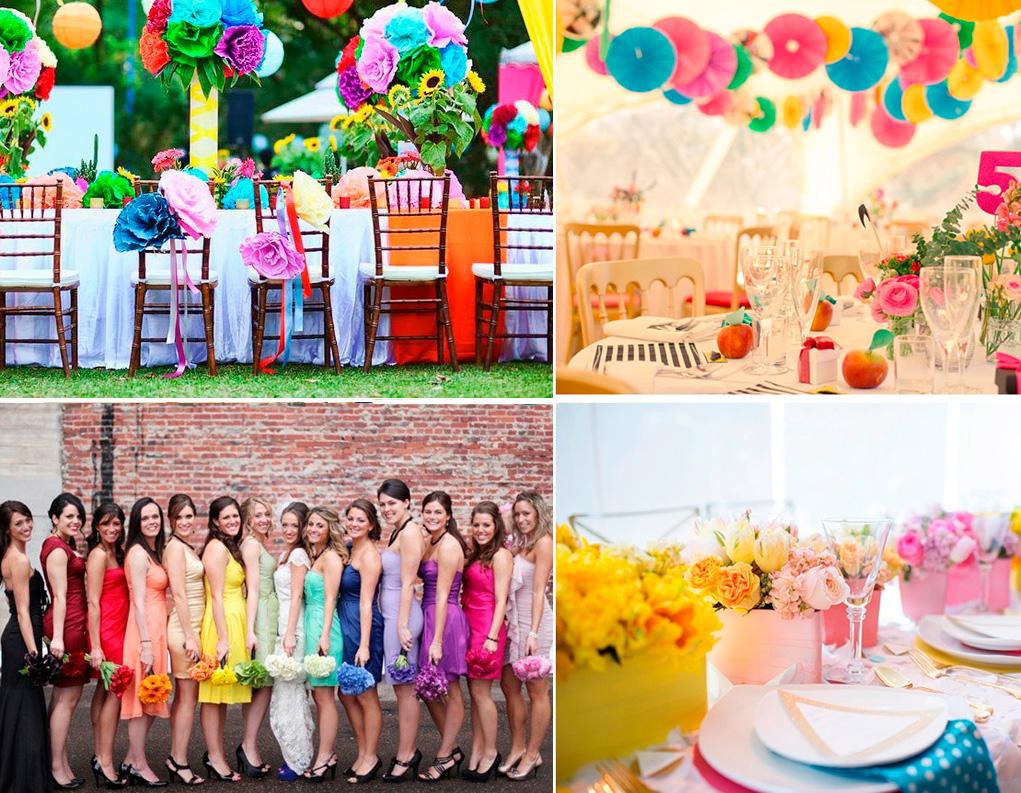 Лучшая цветная свадьба