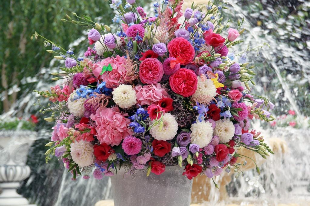 Букет цветов в стиле прованс